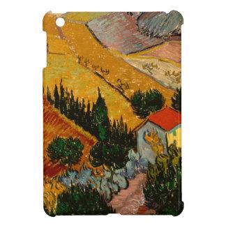 Landscape with House & Ploughman, Vincent Van Gogh iPad Mini Case