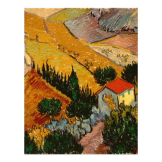 Landscape with House & Ploughman, Vincent Van Gogh Letterhead