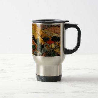 Landscape with House & Ploughman, Vincent Van Gogh Travel Mug