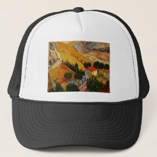 Landscape with House & Ploughman, Vincent Van Gogh Trucker Hat