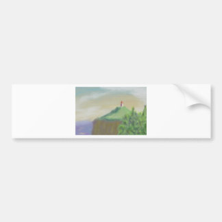 Landscape with Lighthouse Bumper Sticker