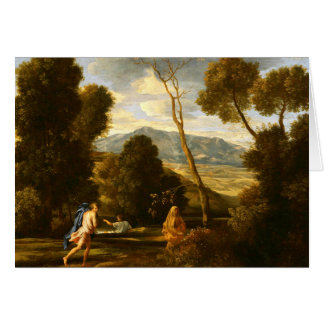 Landscape with Man Pursued by a Snake Card