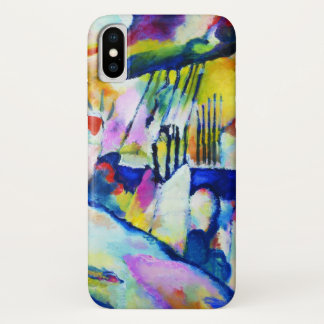 Landscape with Rain by Wassily Kandinsky iPhone X Case