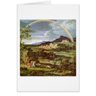 Landscape With Rainbow By Joseph Anton Koch Card