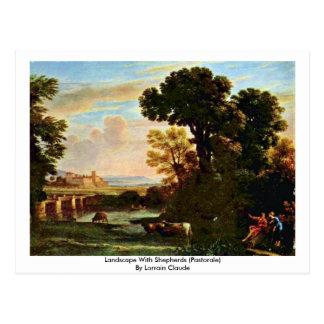 Landscape With Shepherds (Pastorale) Postcard