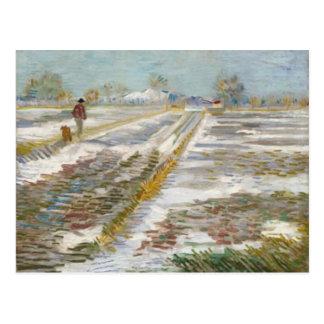 Landscape with Snow, Van Gogh Fine Art Postcard