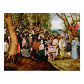 Landscape with St. John the Baptist Preaching Postcard