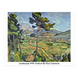 Landscape With Viaduct By Paul Cezanne Postcard