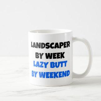 Landscaper by Week Lazy Butt by Weekend Coffee Mug