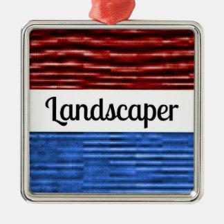 Landscaper Patriotic Christmas Ornament