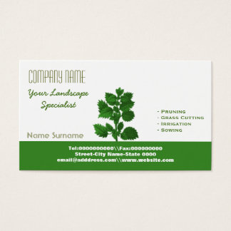 Landscaping and gardening business card