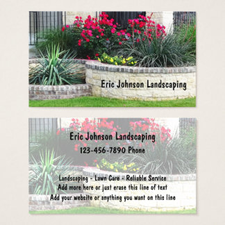 Landscaping And Lawn Care Service Business Card