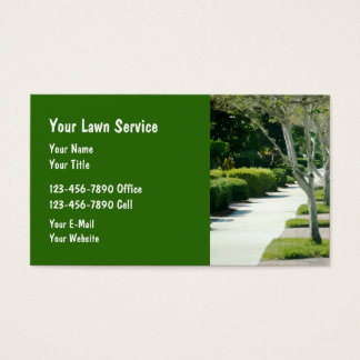 Landscaping And Lawn Service Business Card