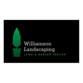Landscaping, Gardening Green Topiary Logo II Business Card