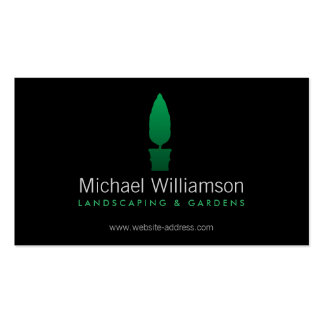 Landscaping, Gardening Green Topiary Logo Pack Of Standard Business Cards