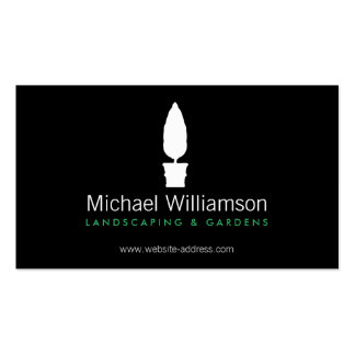 Landscaping, Gardening White Topiary Logo Pack Of Standard Business Cards