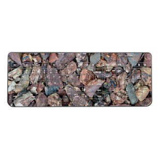 Landscaping Lava Rock Rubble and Stones Wireless Keyboard