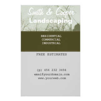 Landscaping Lawn Yard Gardening Care Personalized Flyer