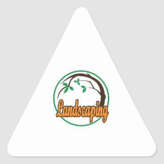 LANDSCAPING TRIANGLE STICKER