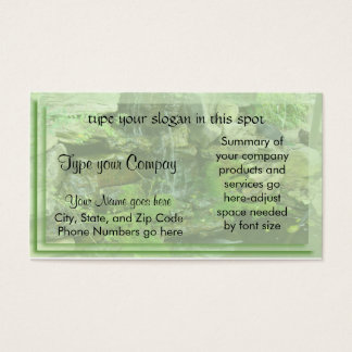 Landscaping-waterfall Business Card
