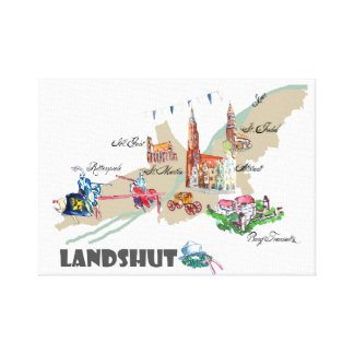 Landshut object of interest canvas print