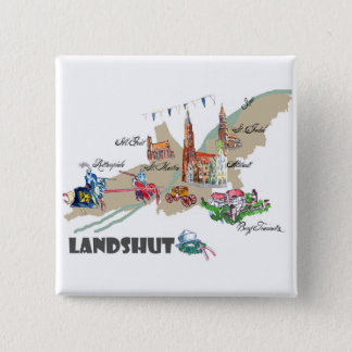 Landshut objects of interest 2 inch square button