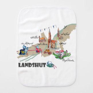 Landshut objects of interest burp cloth