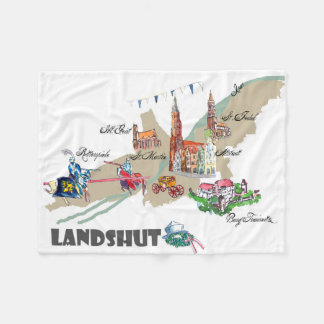 Landshut objects of interest fleece blanket