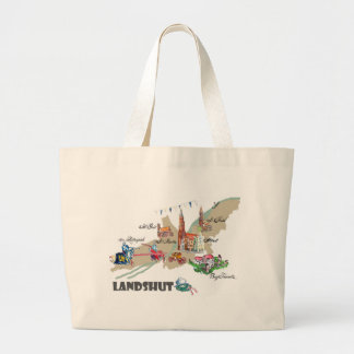 Landshut objects of interest large tote bag