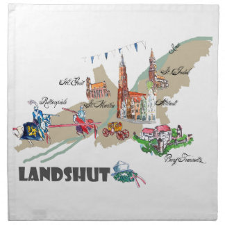 Landshut objects of interest napkin