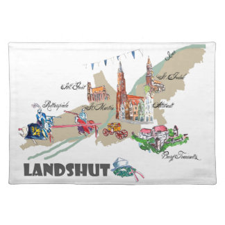 Landshut objects of interest placemat