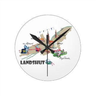 Landshut objects of interest round clock