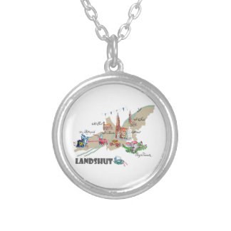 Landshut objects of interest silver plated necklace