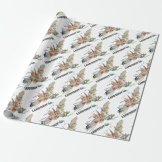 Landshut objects of interest wrapping paper