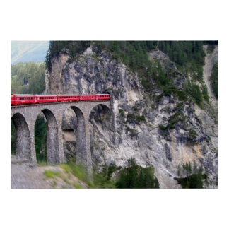 Landwasser Viaduct in Switzerland Poster