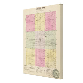 Lane County, Kansas Stretched Canvas Prints