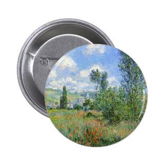 Lane in the Poppy Fields - Claude Monet 2 Inch Round Button