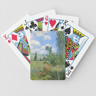 Lane in the Poppy Fields - Claude Monet Bicycle Playing Cards