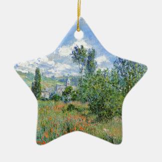 Lane in the Poppy Fields - Claude Monet Ceramic Ornament