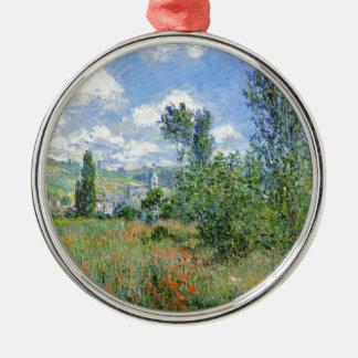 Lane in the Poppy Fields - Claude Monet Metal Ornament