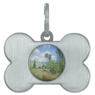 Lane in the Poppy Fields - Claude Monet Pet Tags