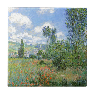 Lane in the Poppy Fields - Claude Monet Tile