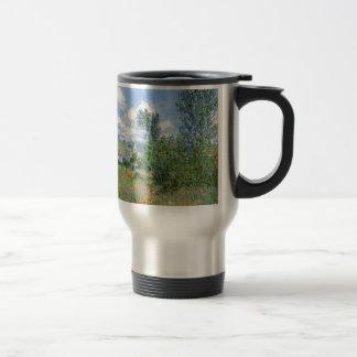 Lane in the Poppy Fields - Claude Monet Travel Mug