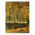 Lane with Poplars by Vincent van Gogh Postcard