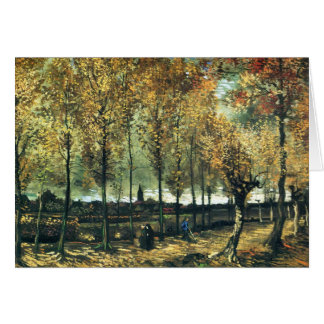 Lane with Poplars painting by Vincent Van Gogh Card