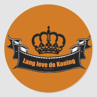 Lang leve de Koning Classic Round Sticker
