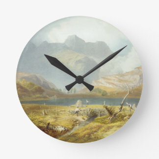 Langdale Pikes, from 'The English Lake District', Round Clock