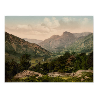 Langdale Valley, Lake District, Cumbria, England Poster