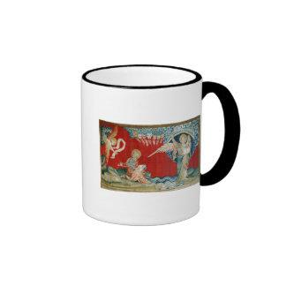 L'ange avec un livre ouvert tasse à café