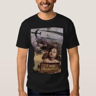 L'ange en Madonna de Foligno voit des chemtrails Tee Shirt